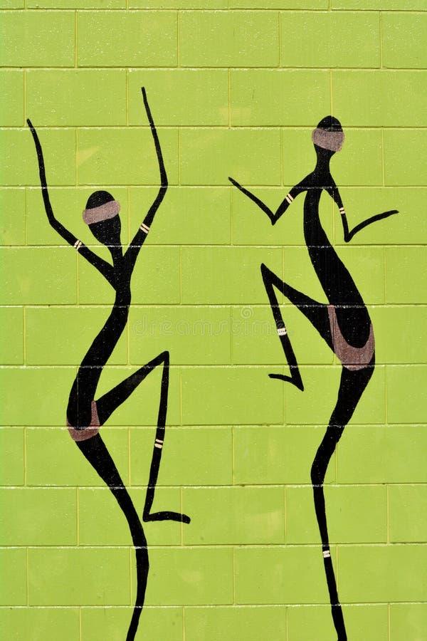 Miejscowy Australijski sztuki kropki obraz Tubylczy kobiety danci fotografia stock