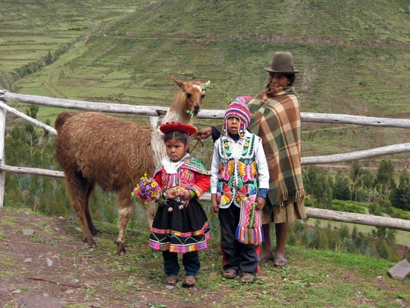 miejscowych peruvian fotografia stock