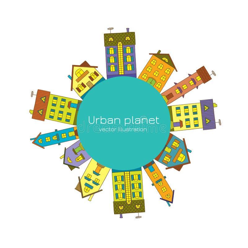 miejska planety royalty ilustracja