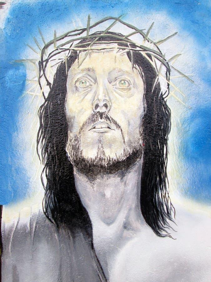 miejska sztuki christ oryginał cyfrowy ilustracyjny Jesus Nazareth obrazy royalty free