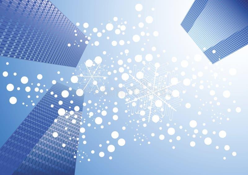 miejski śnieg ilustracji
