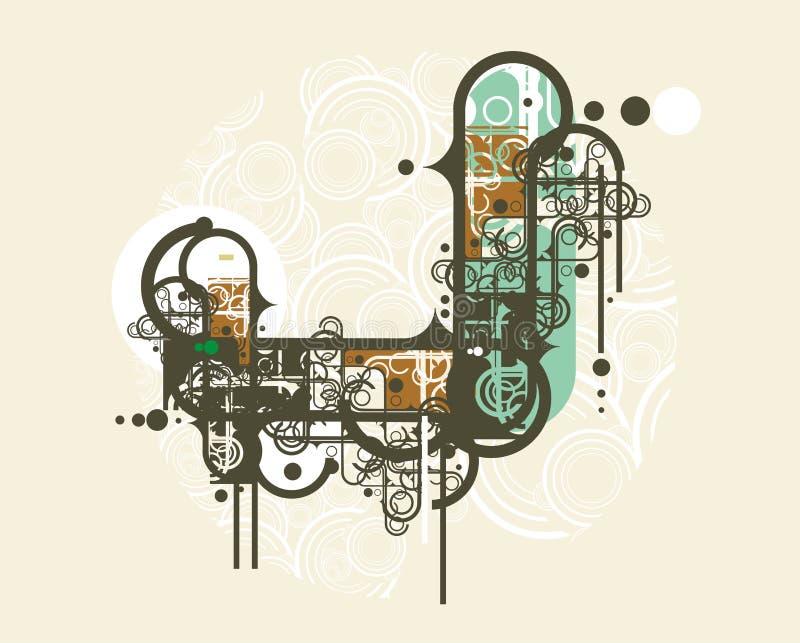 miejski abstrakcyjne projektu ilustracji