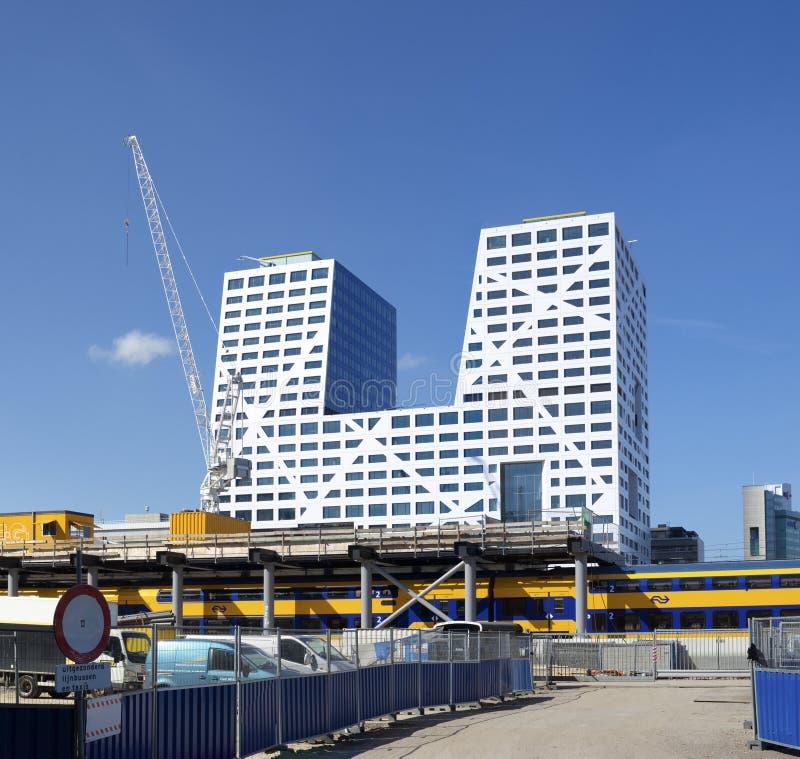Miejski budynek biurowy w holandiach fotografia stock