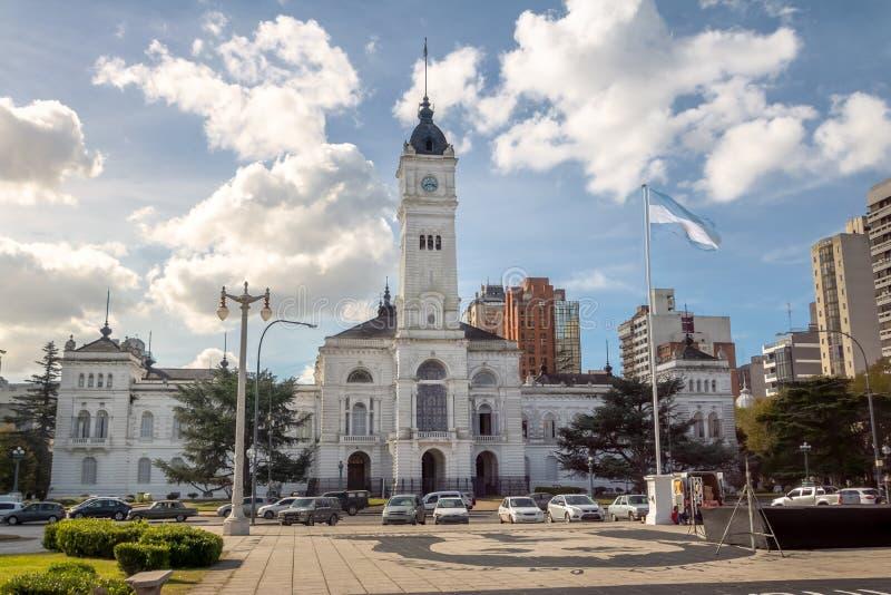 Miejski pałac, losu angeles Plata urząd miasta - los angeles Plata, Buenos Aires prowincja, Argentyna zdjęcie stock
