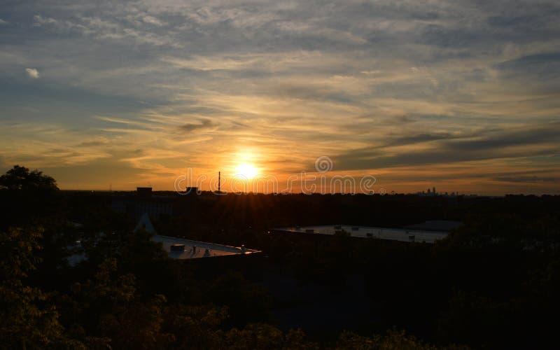 miejski słońca obrazy stock
