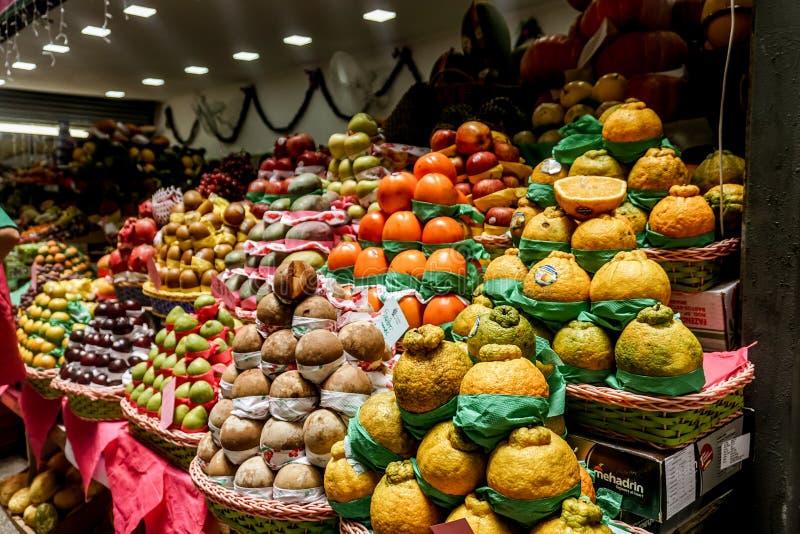 Miejski Targowy Owocowy rynek obraz royalty free