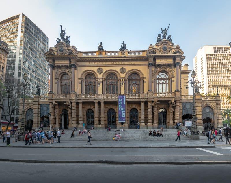 Miejski teatr Sao Paulo, Sao Paulo -, Brazylia zdjęcia royalty free