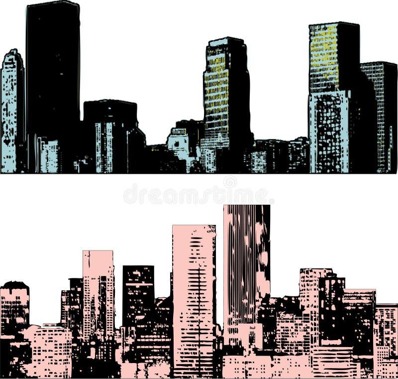miejskiego pejzażu crunch ilustracji