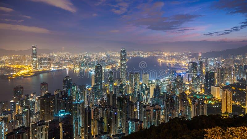 miejskiego pejzażu Hong kongu fotografia royalty free