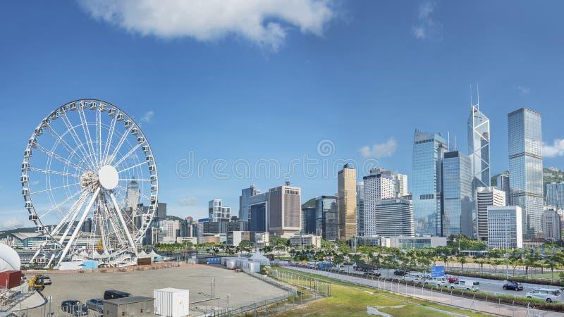 miejskiego pejzażu Hong kongu obraz royalty free