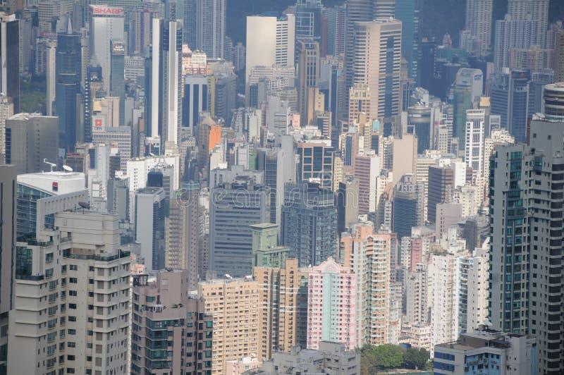 miejskiego pejzażu Hong kongu obrazy royalty free
