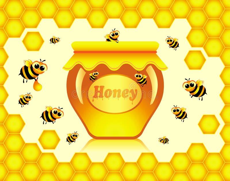 Miel stock de ilustración
