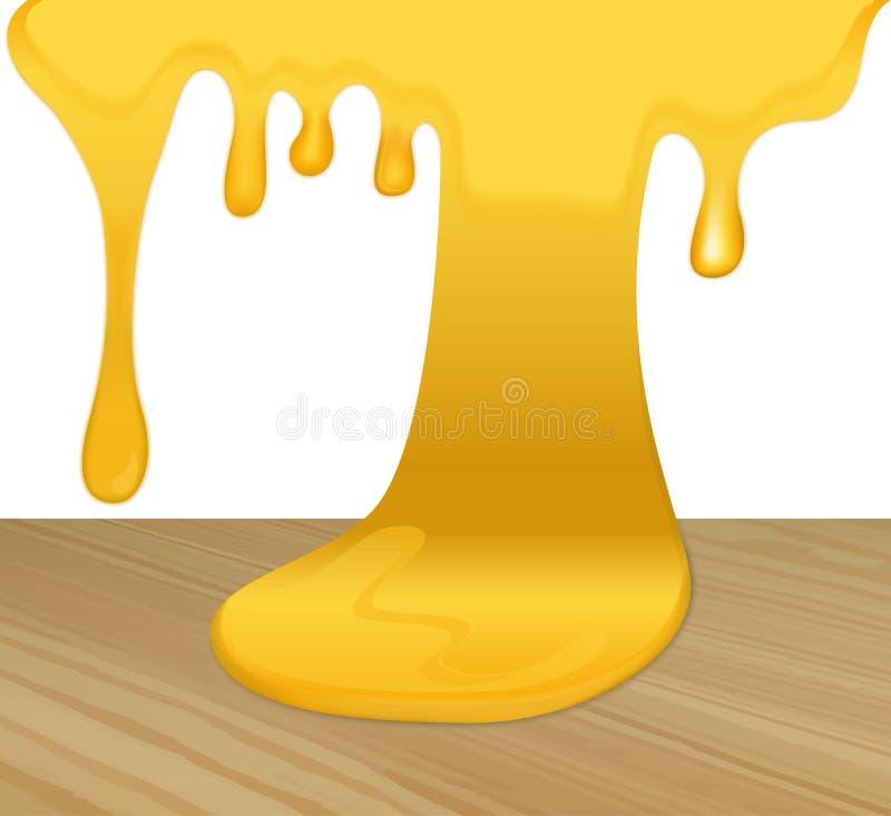 Miel amarilla que fluye libre illustration