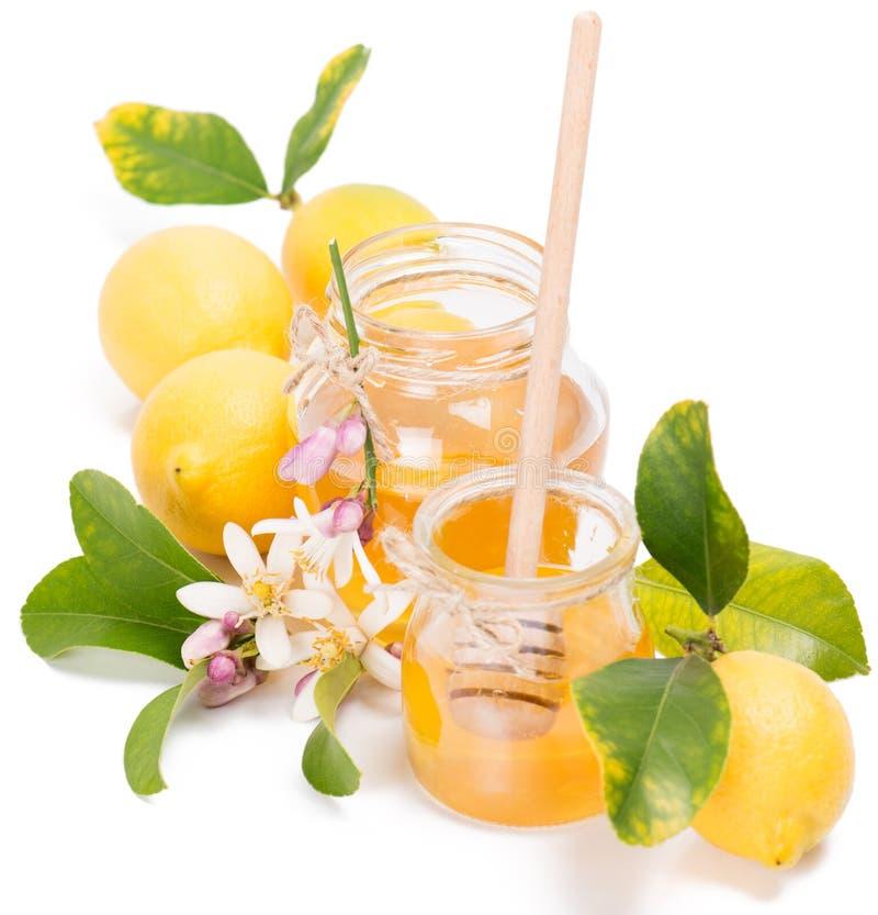 Miel azahar et citrons photographie stock
