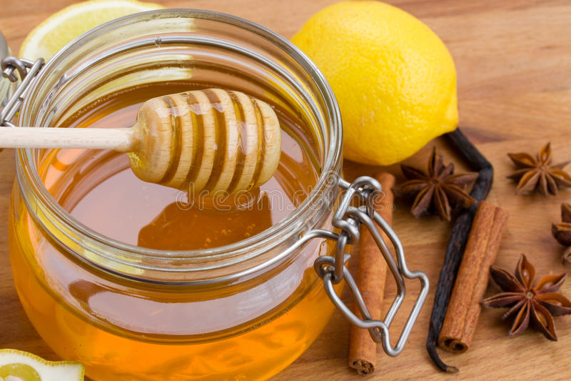 Miel d'agrume photographie stock