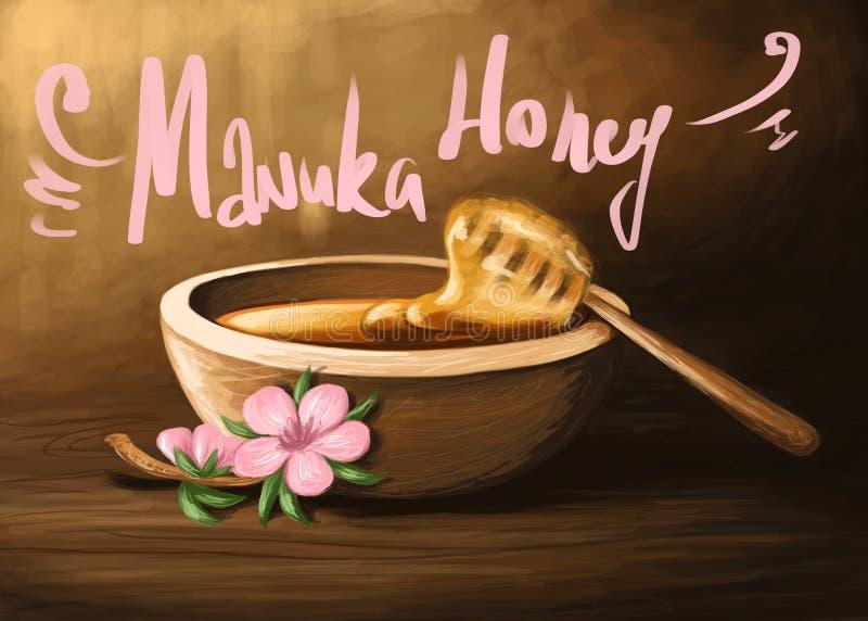 Miel 1 de Manuka illustration stock