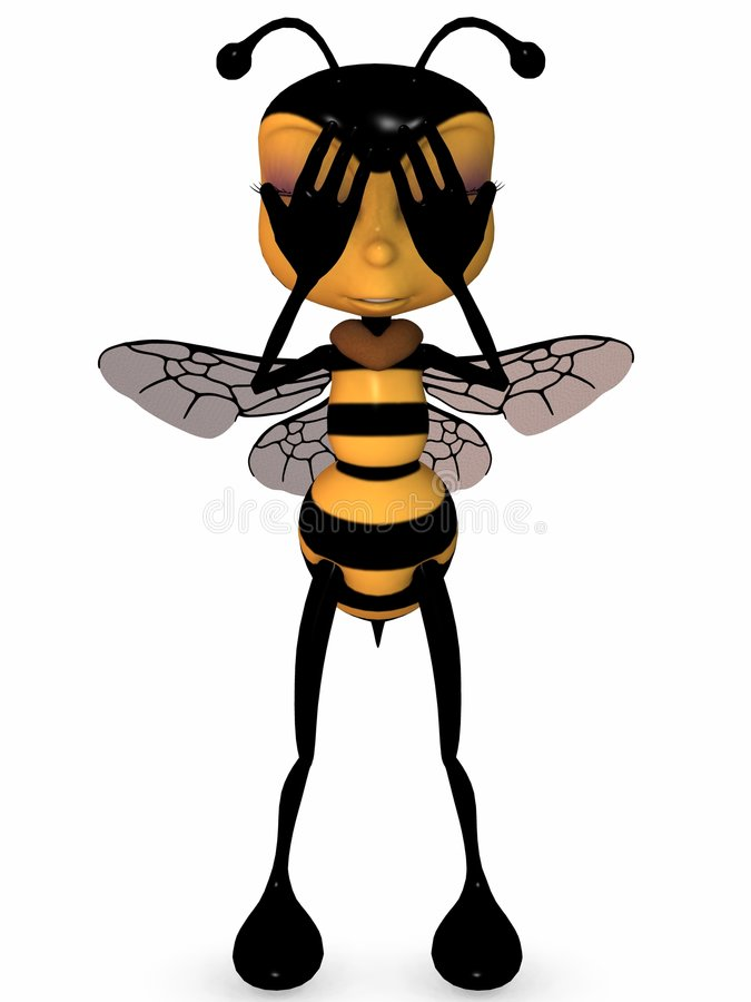 Download Miel la abeja de Toon stock de ilustración. Ilustración de cómico - 7285859