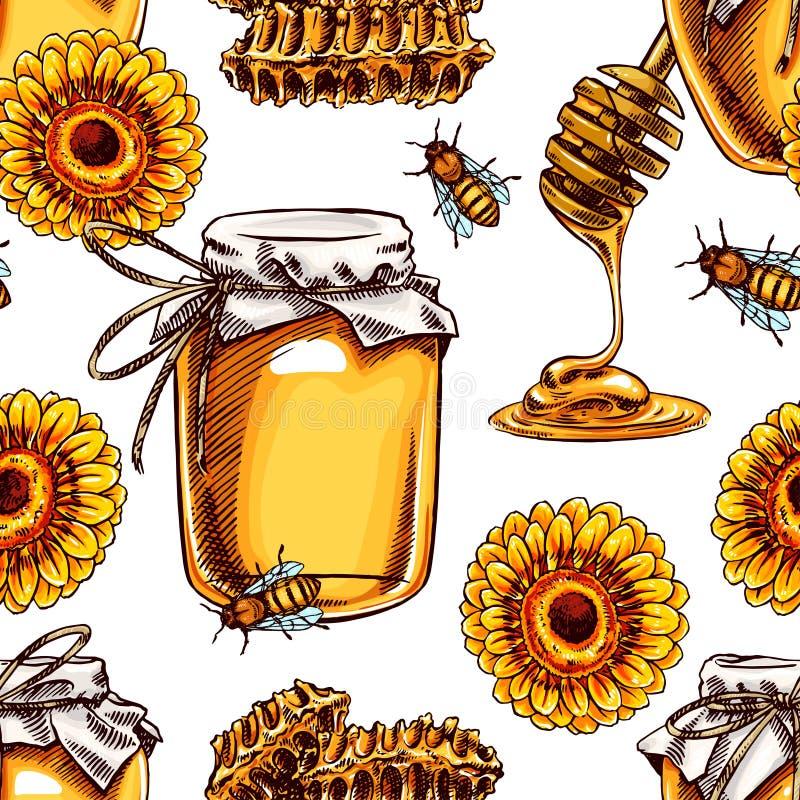 Miel sans couture illustration de vecteur