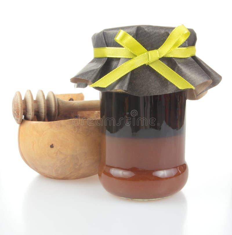 Miele del grano saraceno fotografia stock