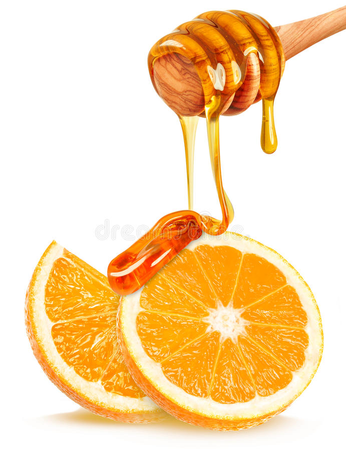 Miele ed arancia immagini stock
