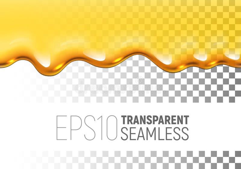 Miele senza cuciture della sgocciolatura di vettore trasparente sul fondo di scacchi illustrazione di stock