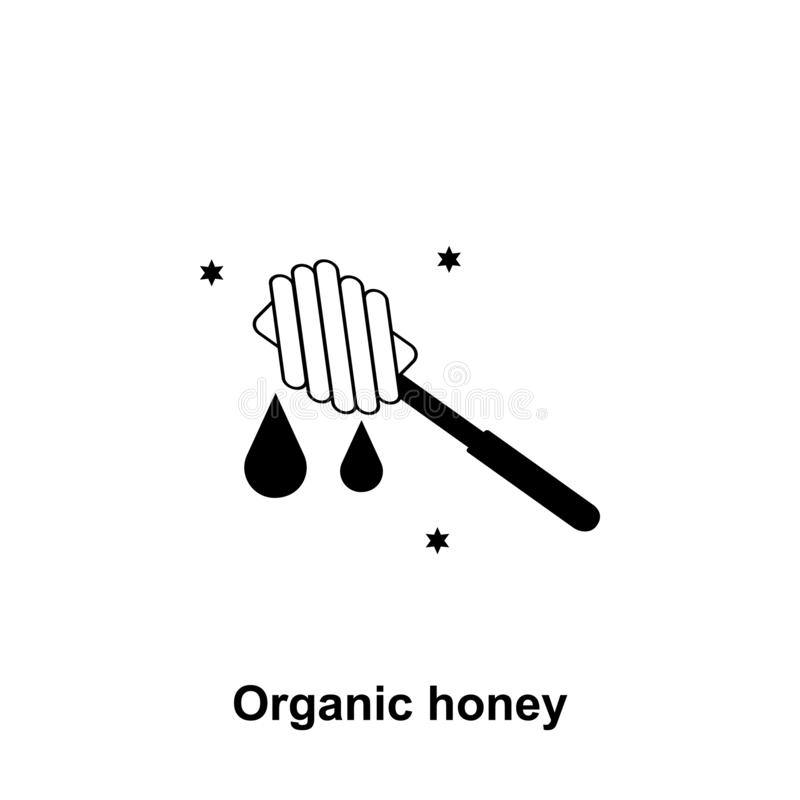 miele sull'icona del bastone Elemento dell'icona di apicoltura Icona premio di progettazione grafica di qualità Segni ed icona de illustrazione vettoriale