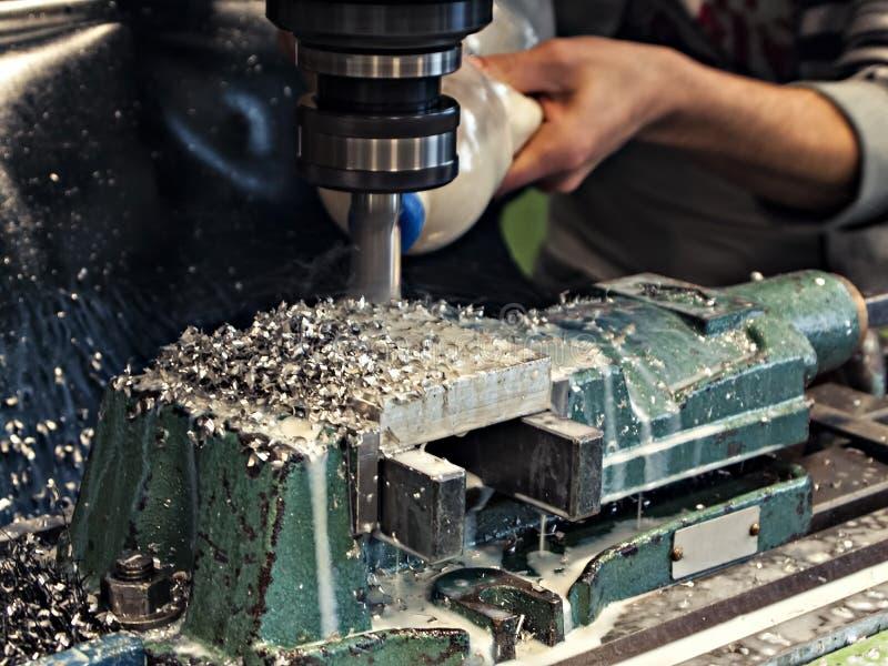 Mielenia metalworking proces obrazy royalty free