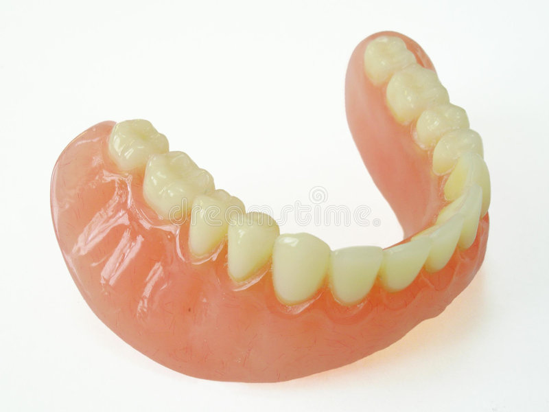 Miembro de la dentadura foto de archivo libre de regalías
