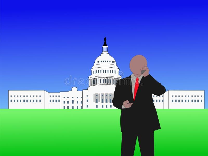Miembro del Congreso en el teléfono ilustración del vector