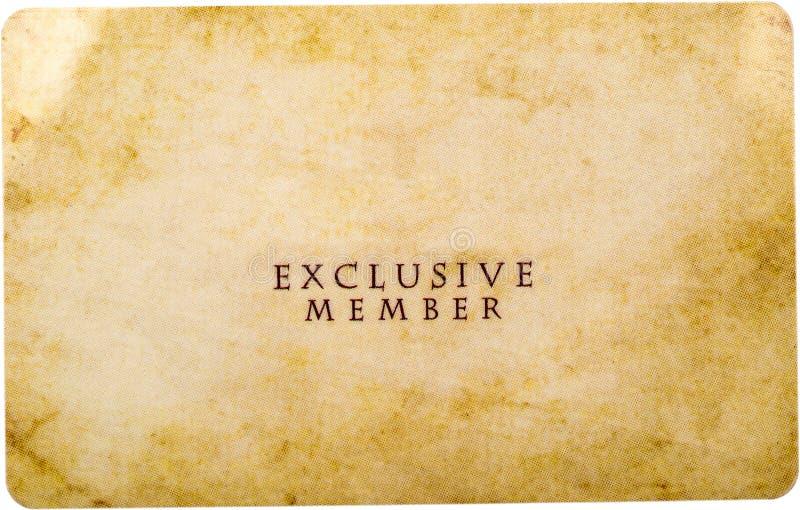 Miembro exclusivo fotografía de archivo libre de regalías