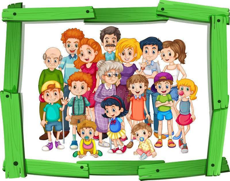 Miembros de la familia stock de ilustración