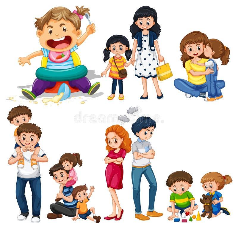 Miembros de la familia con los padres y los niños libre illustration