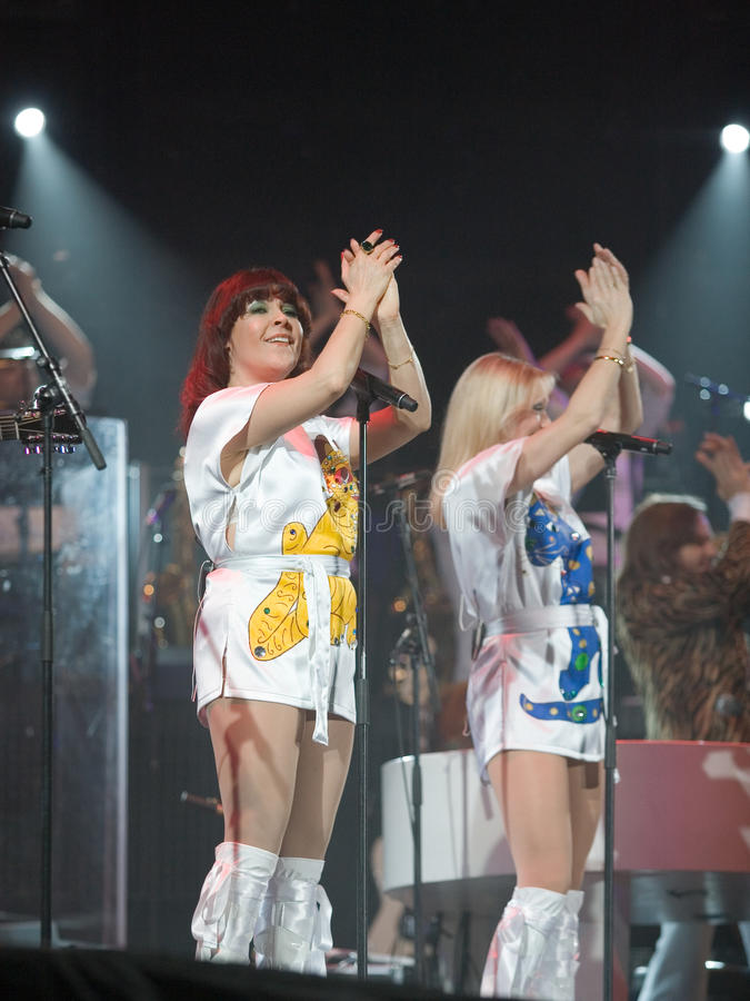 Miembros del ABBA que la demostración se realiza fotos de archivo libres de regalías