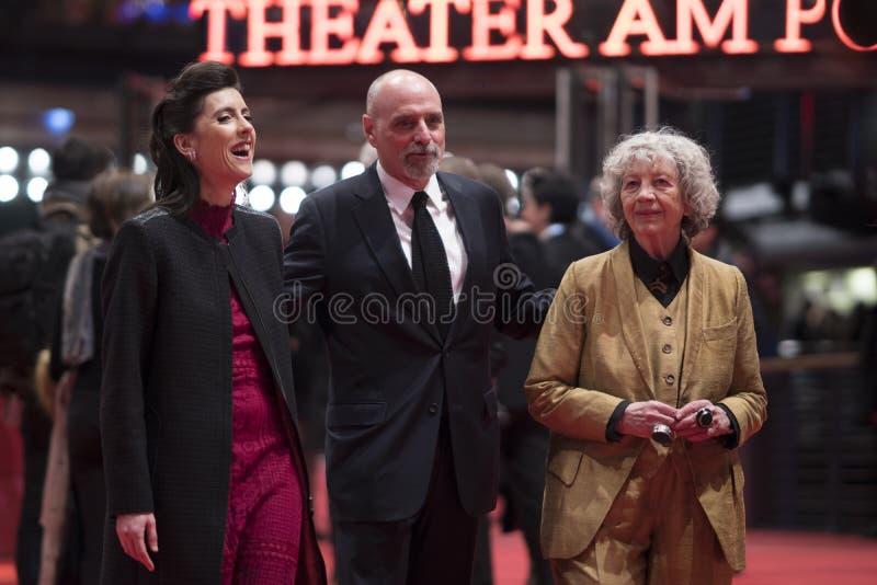 Miembros del jurado del premio documental de Glashuette durante el Berlinale 2018 imagen de archivo libre de regalías