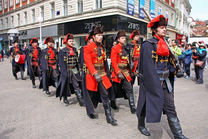 Miembros del regimiento del pañuelo fotos de archivo libres de regalías