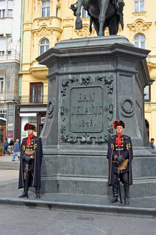 Miembros del regimiento del pañuelo imagen de archivo