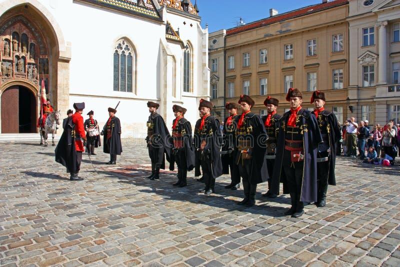 Miembros del regimiento del pañuelo fotografía de archivo