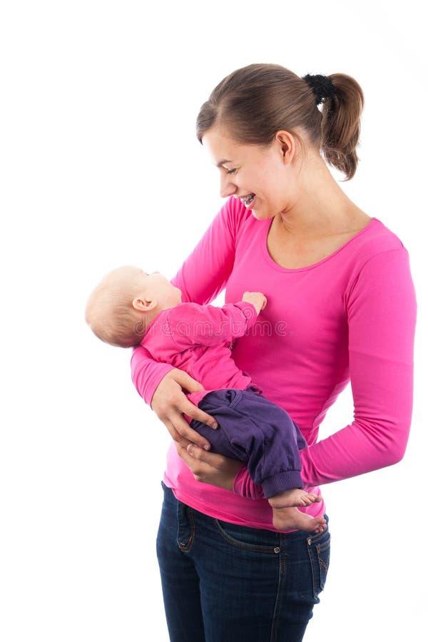 Mienia nastoletni macierzysty dziecko zdjęcie stock