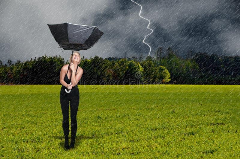 mienia parasola kobieta obrazy stock