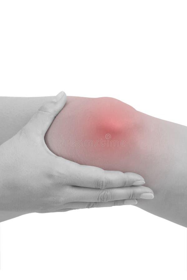 mienia urazu kolanowa bolesna kobieta obrazy stock