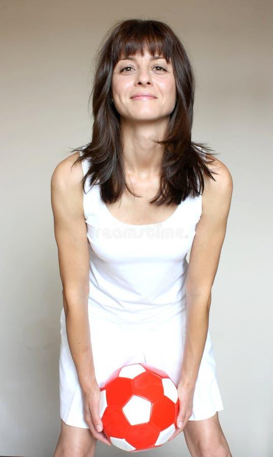 mienie balowa futbolowa kobieta obraz stock