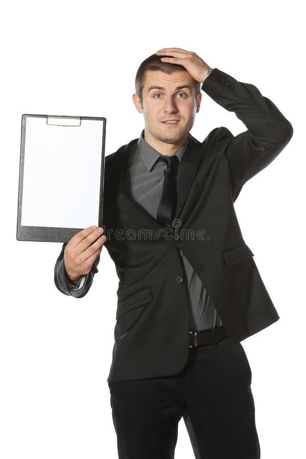 mienie pusty deskowy biznesowy mężczyzna zdjęcie royalty free