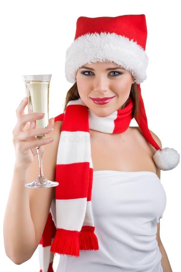 mienie szampańska szklana kobieta obraz royalty free