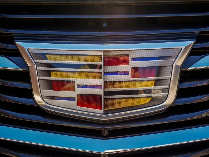 Cadillac logo close up shot. stock photos