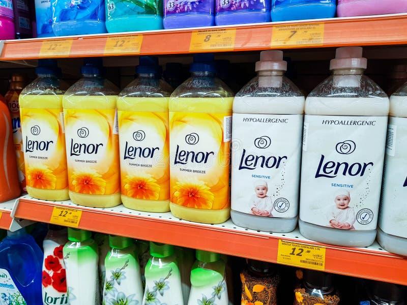 Fabric Softener Shelf In A Supermarket Editorial