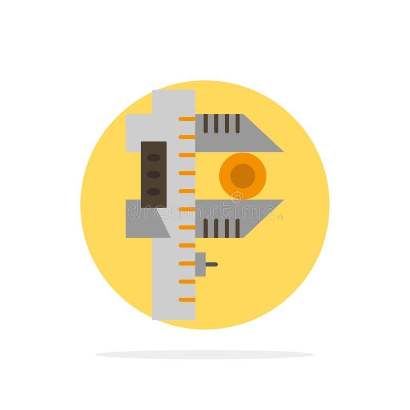 Mierzący, dokładność, miara, Małego, Malutkiego Abstrakcjonistycznego okręgu tła koloru Płaska ikona, royalty ilustracja