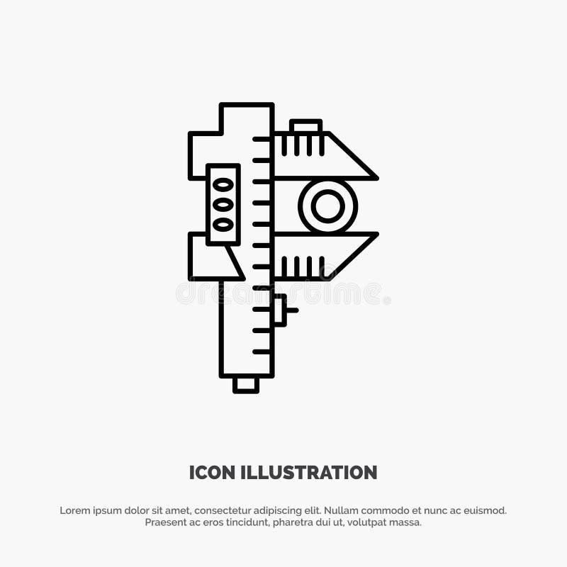 Mierzący, dokładność, miara, Mały, Malutki Kreskowy ikona wektor, ilustracji
