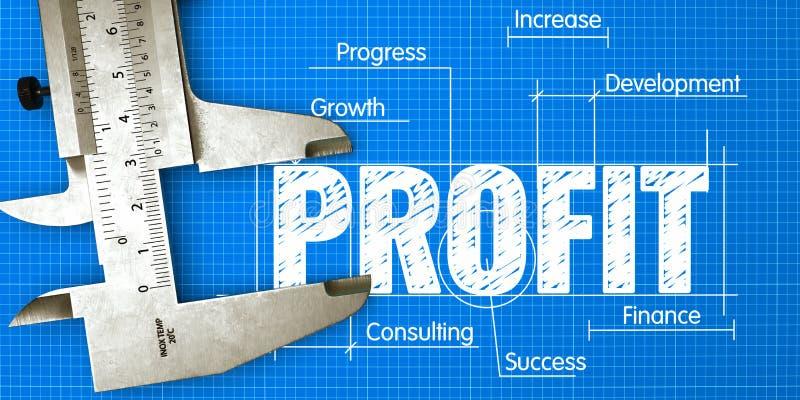Mierzenie zysku Koncepcja biznesowa z wzorcem i kaliperem obrazy stock