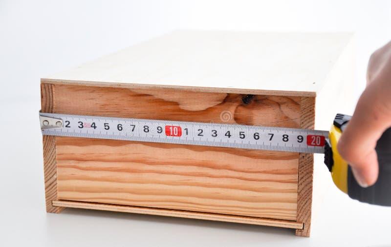 Mierzyć Pudełko Z Ruletą Fotografia Stock