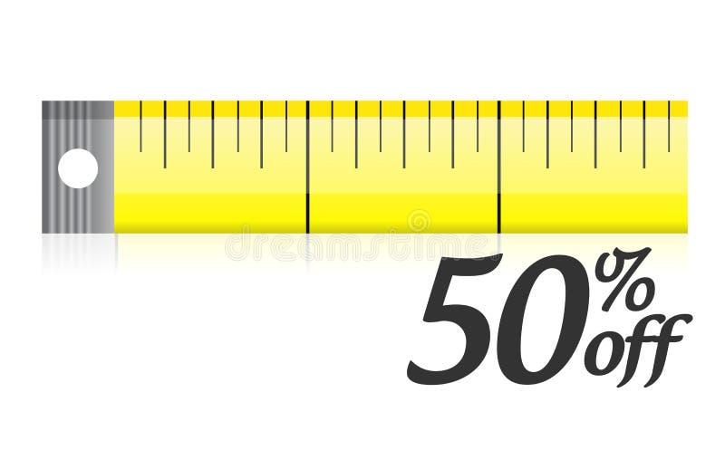 Mierzy twój dyskontowego ilustracyjnego projekt ilustracja wektor